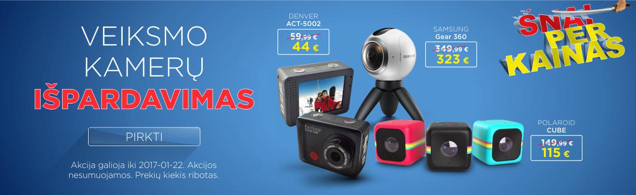 Veiksmo kamerų ir priedų išpardavimas!