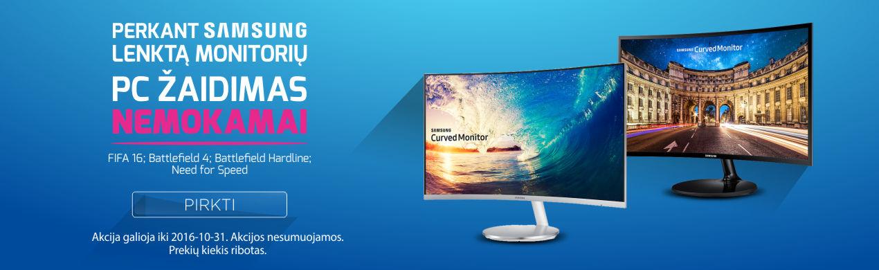 Perkant SAMSUNG monitorių PC žaidimas dovanų!