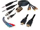 Aparatūros sujungimas, laidai ir kabeliai