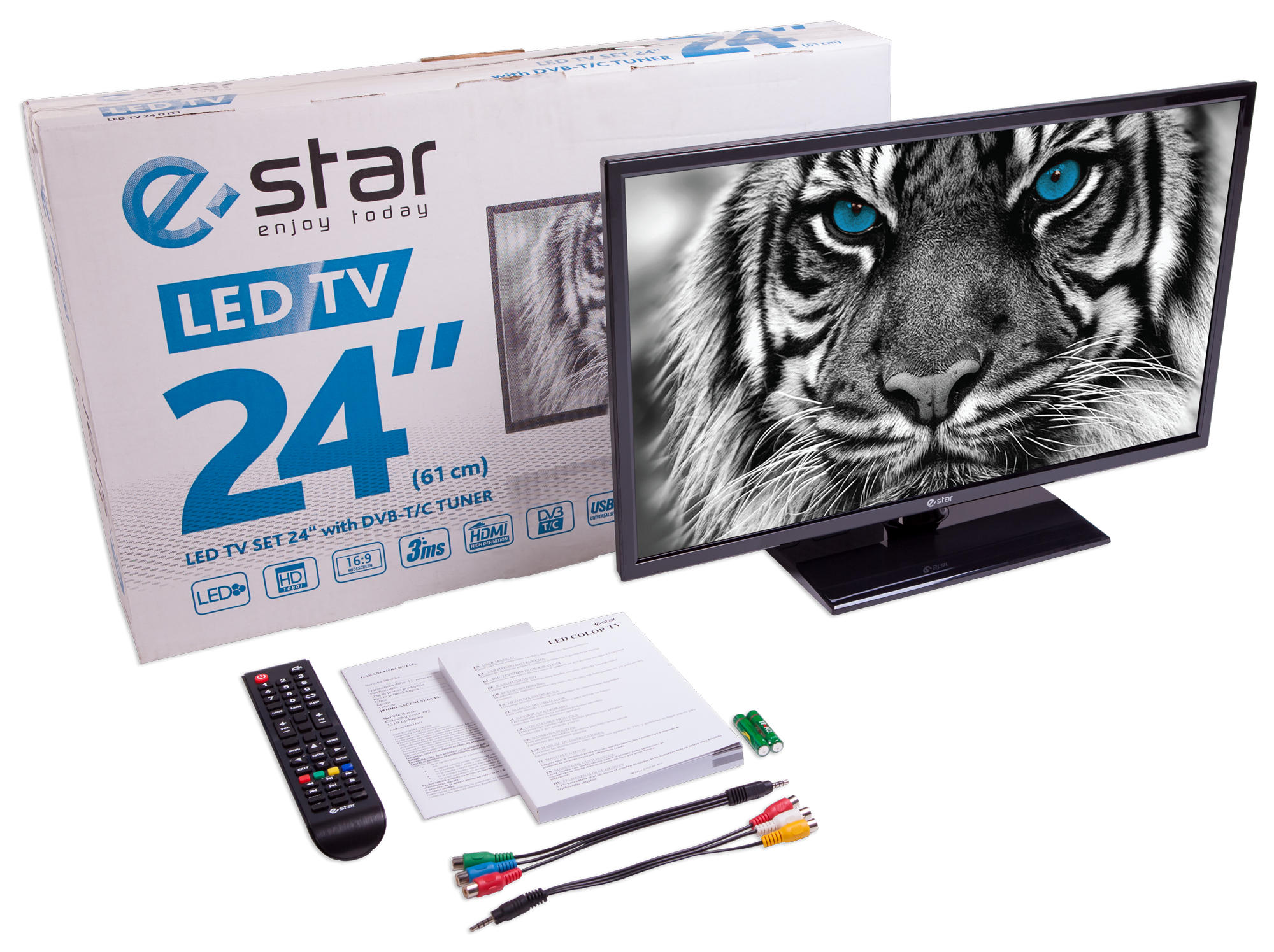 Televizorius eSTAR LEDTV24D1T1 4