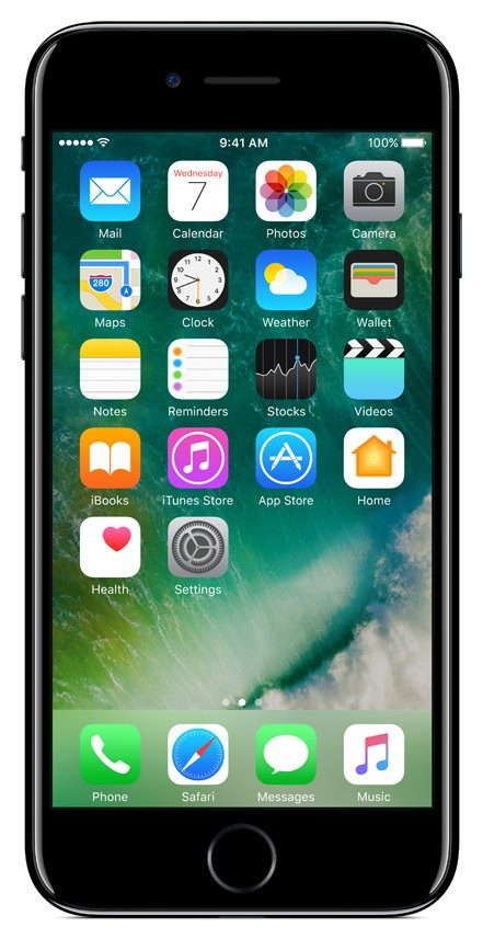 Mobilusis telefonas APPLE iPhone 7 128GB Jet Black 1
