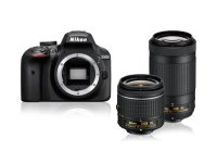Fotoaparatas NIKON D3400 AF-P 18-55 VR + AF-P 70-300VR