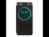 Dėkliukas ASUS ZenFone Selfie, ZD551KL, knygutė H-flip, su langeliu, juoda