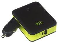 Išorinė baterija KIT: PWRCC3 3000mAh, su adapteriu įkrovimui, auto, juodas