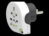 Perėjimas Q2Power universalus į EU 10A, baltas / GT-900