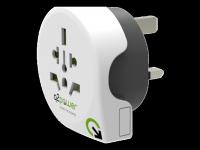 Perėjimas Q2Power universalus į UK 10A, baltas / GT-901