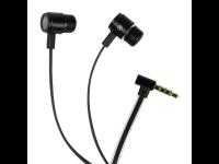 Ausinės AIRCOUSTIC TRX 760, į ausis, su mikrofonu, kelioninės, su adapteriu, juodos