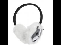Ausinės MY DOODLE Bull Dog šiltos ant ausų, baltos