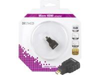 Adapteris DELTACO HDMI-M micro - HDMI-F / HDMI-24-K