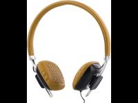 Ausinės STREETZ HL-260, ant ausų, su mikrofonu, rudos
