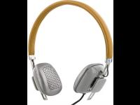 Ausinės STREETZ HL-261, ant ausų, su mikrofonu, rudos/sidabro sp