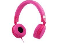 Ausinės STREETZ HL-278, ant ausų,su mikrofonu, rožinės