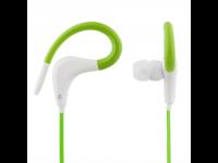 Ausinės STREETZ HL-289, į ausis, su mikrofonu, sportui, baltos-žalios