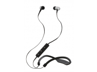 Ausinės STREETZ HL-310, į ausis, Bluetooth, su mikrofonu, atsparios vandeniui, pilkos