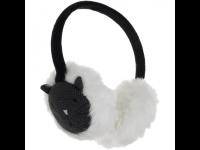 Ausinės MY DOODLE Cat šiltos ant ausų, juodos