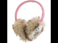 Ausinės MY DOODLE Pug šiltos ant ausų, rožinės/smėlio sp.