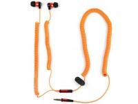 Ausinės SATZUMA BUNGEE, į ausis, su mikrofonu, oranžinės