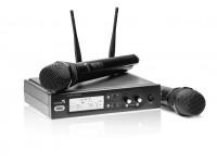 Mikrofonas LIVESTAR UX2 dviejų kanalų bevielis radijo mikrofono komplektas 863.425 MHz, 864.9 MHz