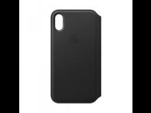 Dėkliukas APPLE iPhone X, knygutė,odinis,juodas