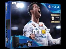 Žaidimų kompiuteris Sony Playstation 4 (PS4) Slim 1TB + papildomas pultas + FIFA 18