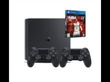Žaidimų kompiuteris SONY PlayStation 4 (PS4) 1TB SB+ pultas+žaidimas NBA2K17